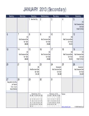 2017 Calendar Forms and Templates - Fillable & Printable ...