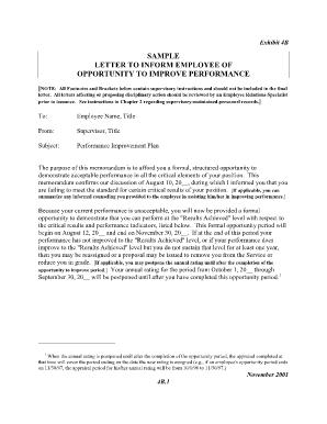 Sample Letter For Performance Improvement from www.pdffiller.com