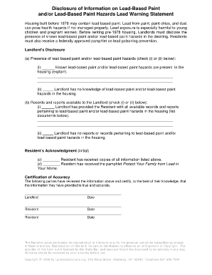 Bill Of Sale Form California Lead Based Paint Disclosure Form ...