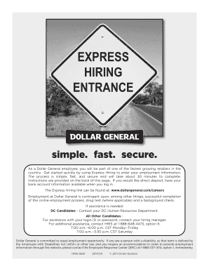 Dollar general careers express hiring fill online - Dollar general careers express hiring ...