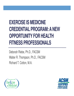 Microsoft PowerPoint - 2012 Exercise is Medicine Certificate Program Summit Final (1) - certification acsm
