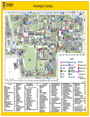 map of unsw campus Fillable Online Campus Map Kensington Campus Unsw Business map of unsw campus