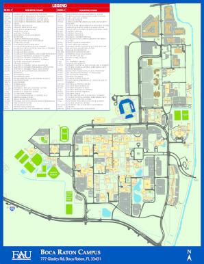 fau boca raton campus map Fau Map Boca Fill Online Printable Fillable Blank Pdffiller fau boca raton campus map