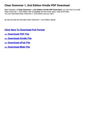 Grammar Clear 1 Pdf - Fill Online, Printable, Fillable