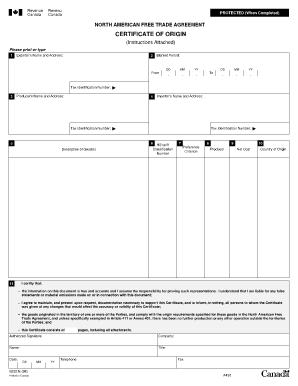 graphic regarding Printable Nafta Form identify Fillable Us Certification Of Origin - Fill On the internet, Printable