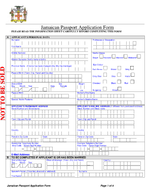Example How To Fill A Jamaican Passport Form When Married - Fill ...