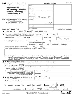 application for a citizenship certificate cit 0001 e