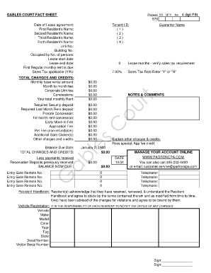 gables lease agreement form