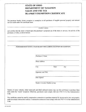 Ohio Sales Tax Certificatepdffillercom - Fill Online, Printable ...