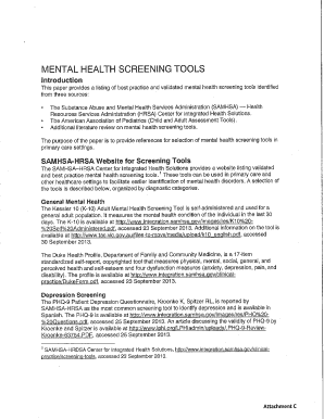Printable mental health assessment tools for adults ...