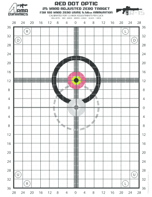 picture about 100 Yard Zero Target Printable named Editable zeroing aims 100 yards - Fill Out, Print