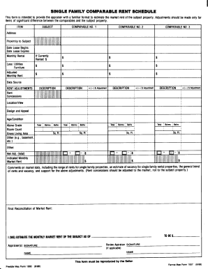rent schedule template form