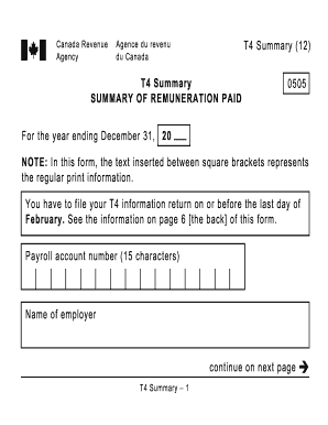 Federal T4 - Fill Online, Printable, Fillable, Blank | PDFfiller