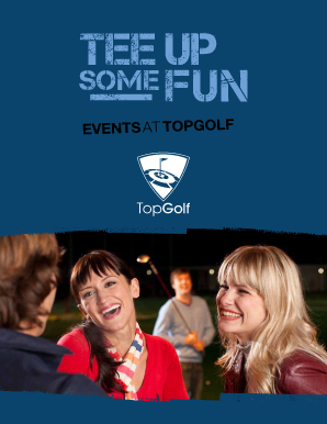 TopGolf Allen Private Parties and Corporate Events Brochure