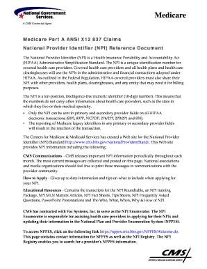 NPI Tip Sheet Fill Online, Printable, Fillable, Blank