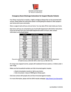 Fillable online emergency room discharge instructions for suspect fill online altavistaventures Image collections