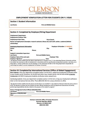 printable letter of employment form