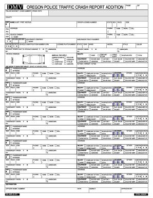 Oregon dmv accident report fax