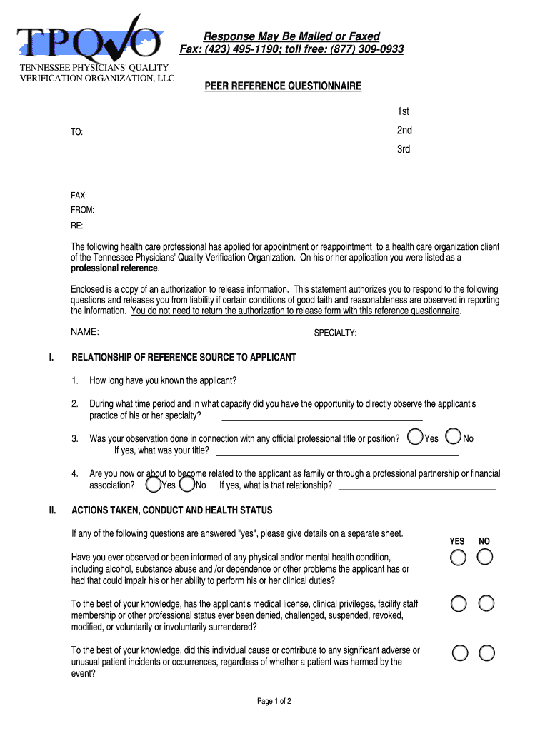 Peer Reference Letter For Physician - Fill Online, Printable