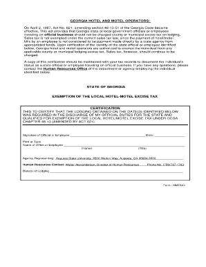 Fillable Lodging Form