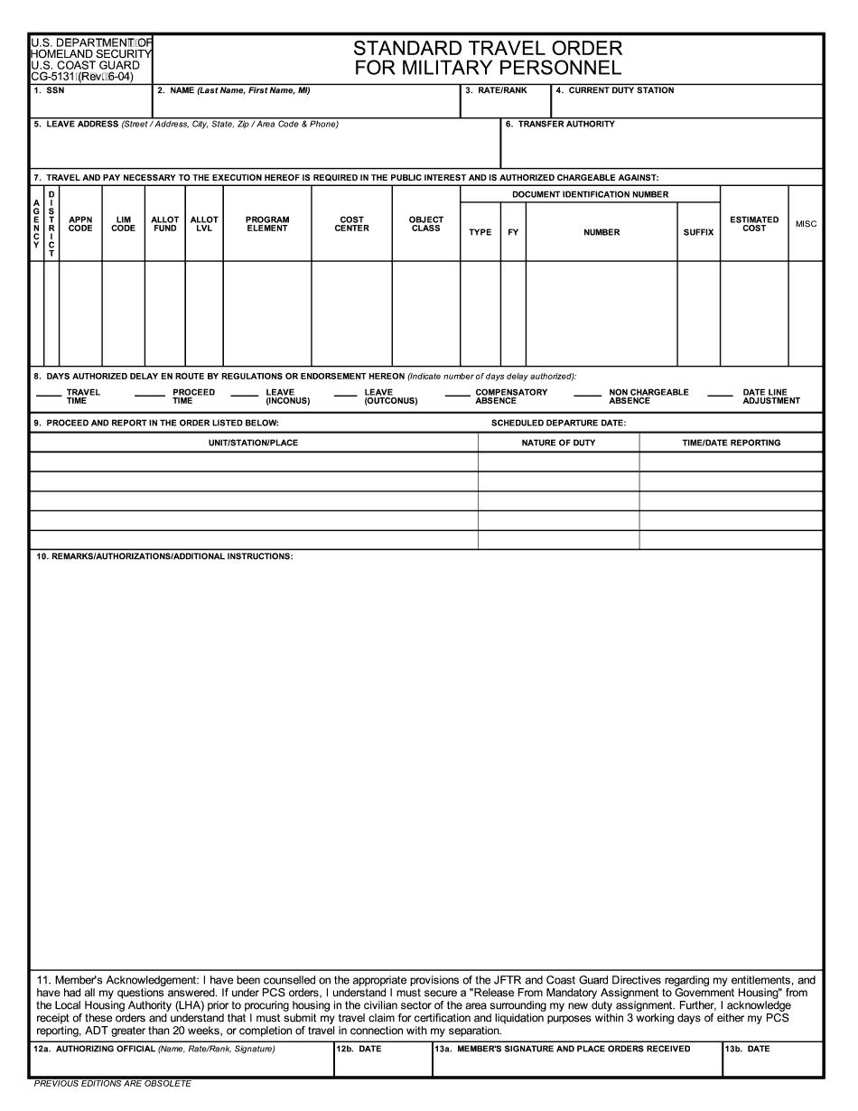 Form CG-5131