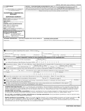Fillable online bhs econ census form qfr 300 s business for Census bureau title 13