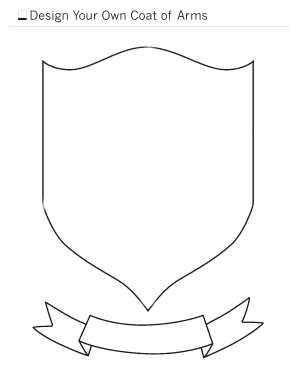 make your own coat of arms template create your own house crest