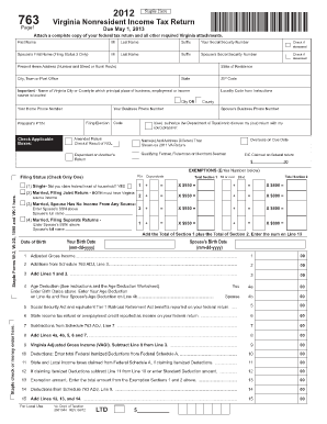 Va State Tax Form 760 For 2015 - Information