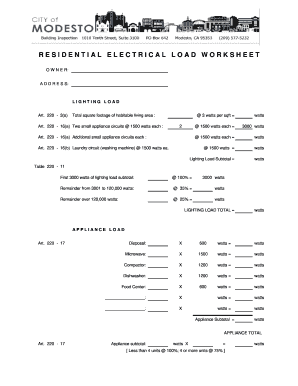 Printables Residential Electrical Load Calculation Worksheet printable electrical load worksheets form fill online related content residential calculation