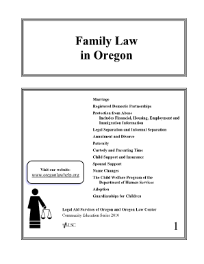 Oregon family law forms fillable