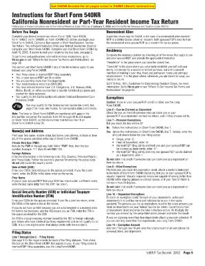 540nr Short Form - Fill Online, Printable, Fillable, Blank | PDFfiller
