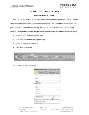 dissertation contents list