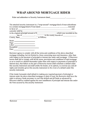 Exceptional Free Wrap Around Mortgage Form Intended Blank Mortgage Form