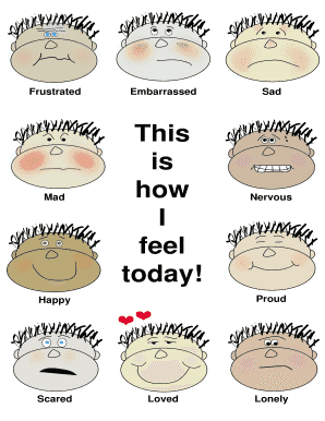21 printable how do you feel today chart pdf forms and templates