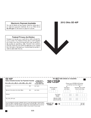 sd40p form