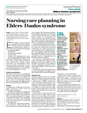 nursing interventions for ehlers danlos syndrome form