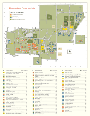Fillable Online rpi Campus Map   Rensselaer Polytechnic Institute