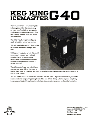 Fillable online icemaster g40 pamphletpdf keg king fax email rate this form fandeluxe Gallery