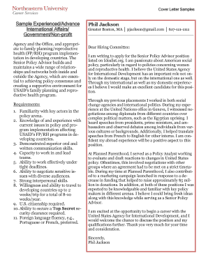 sample cover letter with no experience in field - Edit & Fill Out ...