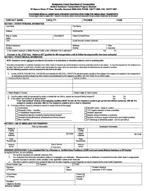Statewide Medical Assistance Provider Certification Form and - montgomerycountymd