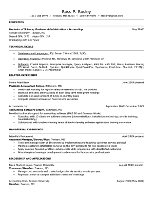 printable accountant resume sample word edit fill out