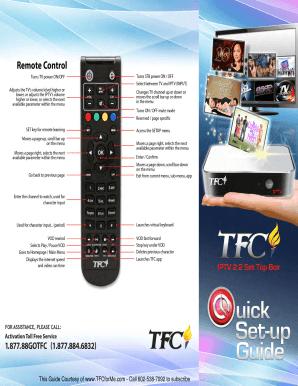 Tfc Iptv 22 - Fill Online, Printable, Fillable, Blank | PDFfiller