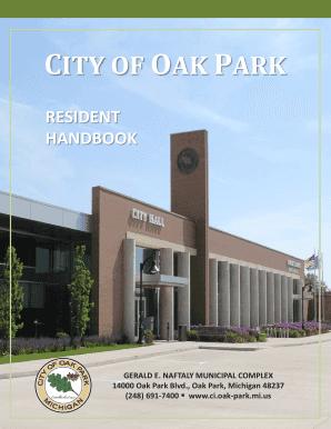 Fillable Online CITY OF OAK PARK Fax Email Print - PDFfiller