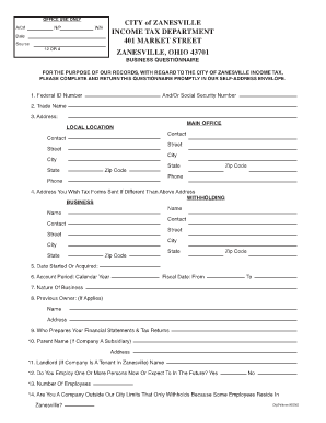 how to file zanesville city tax form