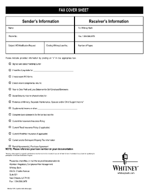 whitney financial statement form
