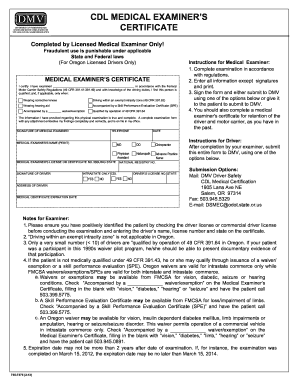 medical physical examination forms
