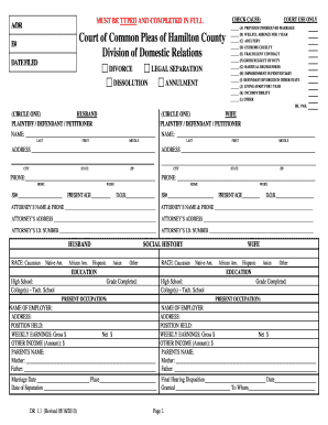 ohio dissolution sample form