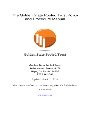 golden state pooled trust policy and procedure manual form