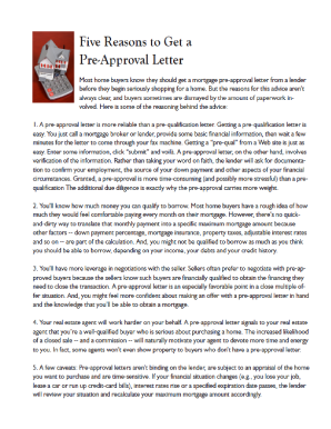 fillable online important letter of mortgage pre approval must be attached fax email print pdffiller