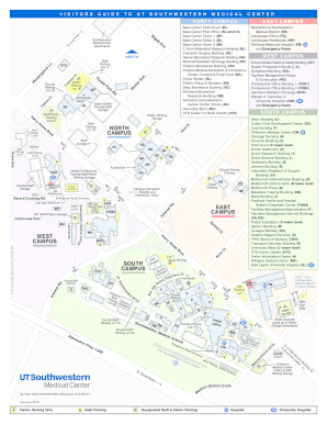 Fillable Online utsouthwestern Campus Map   UT Southwestern